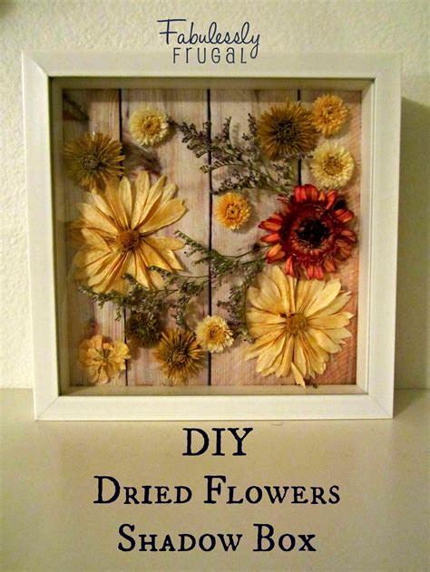 Diy Shadow Box With Flowers