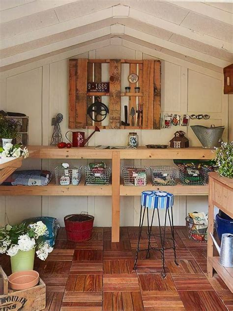 Diy Shed Shelve Interior