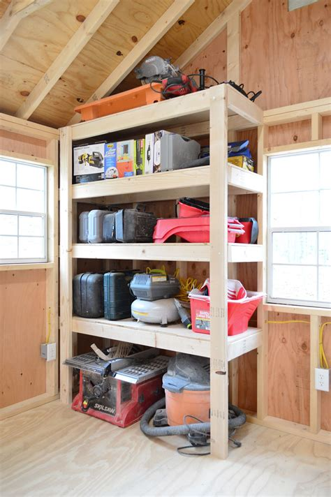Diy Shed Shelving Ideas
