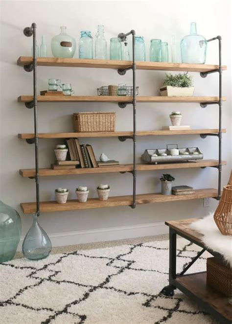 Diy Shelf Unit Made From Pipe