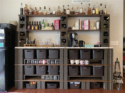 Diy Shelf Wood And Cinder Block