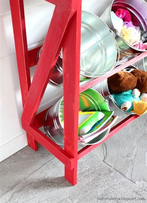 Diy Shelves Made From Buckets