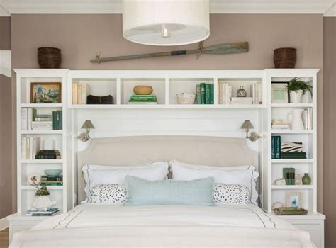 Diy Shelving Unit As A Headboard