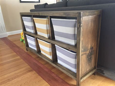 Diy Shelving Unit For Storage Totes