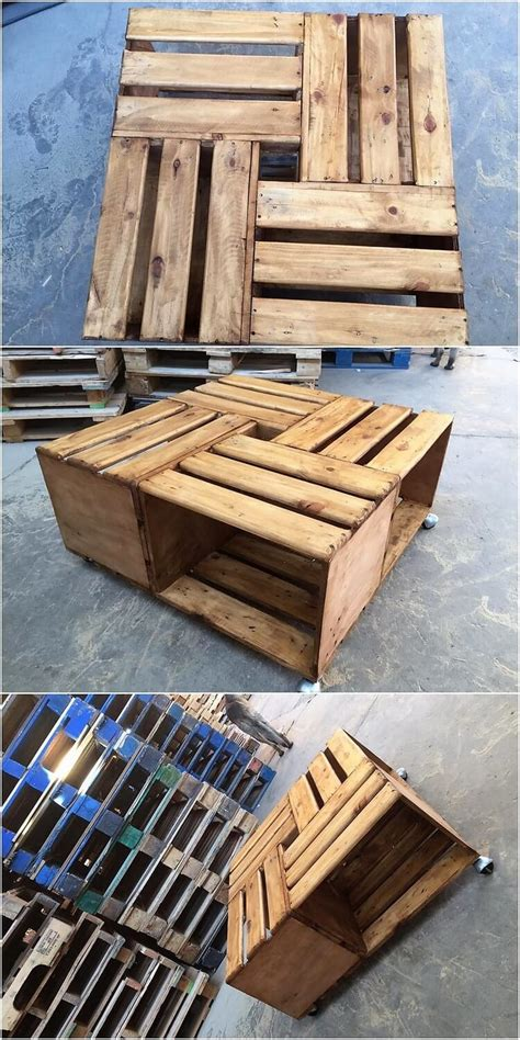 Diy Shipping Pallet Table With Wheels