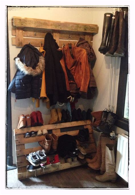 Diy Shoe And Coat Rack