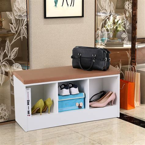 Diy Shoe Rack Bench With Cushion