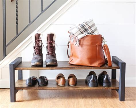 Diy Shoe Rack By Front Door
