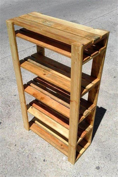 Diy Shoe Rack From Pallets