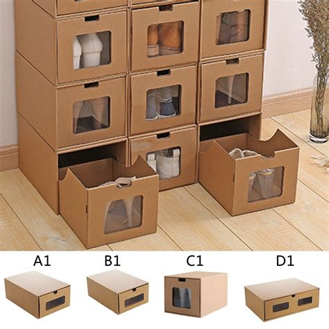 Diy Shoe Storage Cardboard Box