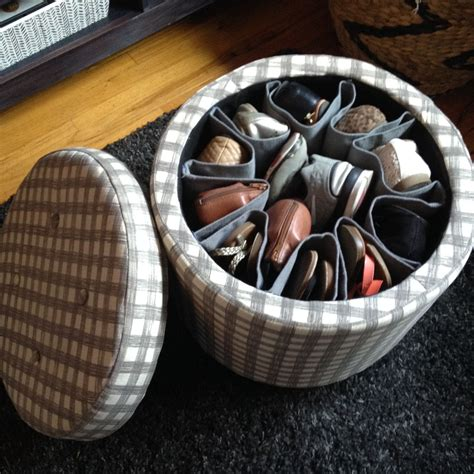 Diy Shoe Storage Ottoman