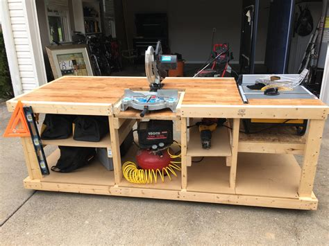 Diy Shop Table And Table Saw
