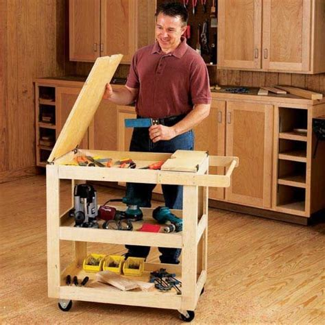 Diy Shop Wood Cart On Wheels