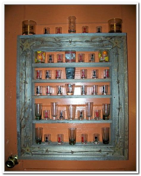 Diy Shot Glass Display Shelf
