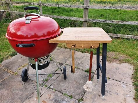 Diy Side Table For Weber Kettle Grill