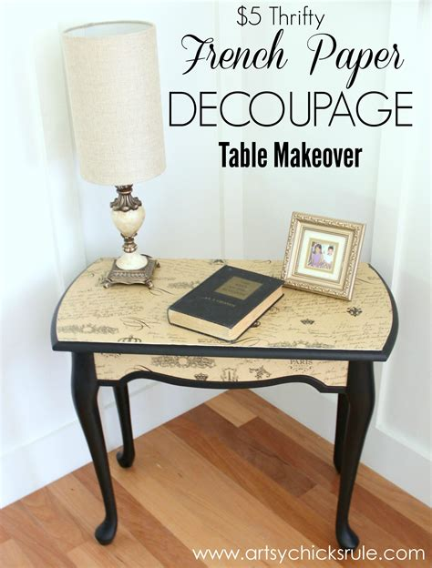 Diy Side Table French Decoupage