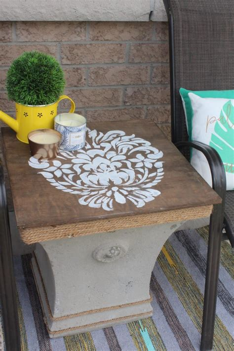 Diy Side Table Pinterest Pinterest