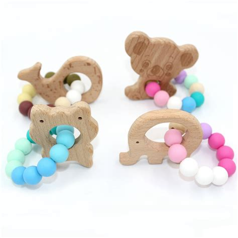 Diy Silicone Wood Teether Babies