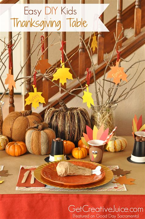 Diy Simple Thanksgiving Table Decorations