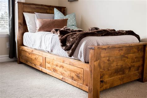 Diy Single Bed Frame With Storage
