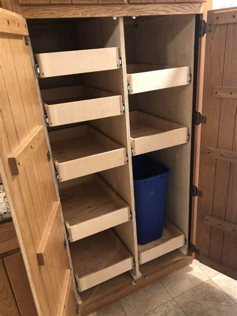 Diy Slide Out Shelves Diy Pull Out Pantry Shelves