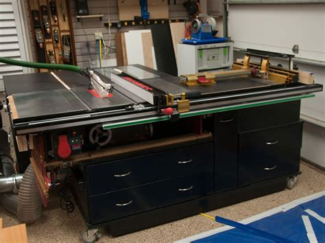 Diy Sliding Crosscut Table For Sawstop Outfeed