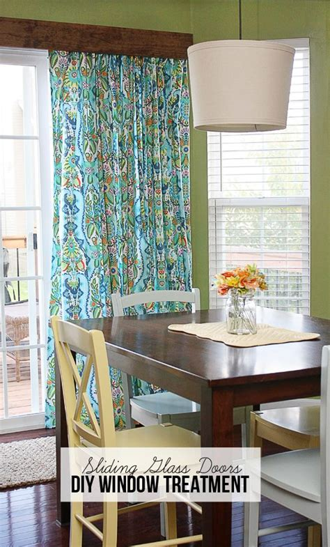 Diy Sliding Door Window Treatments