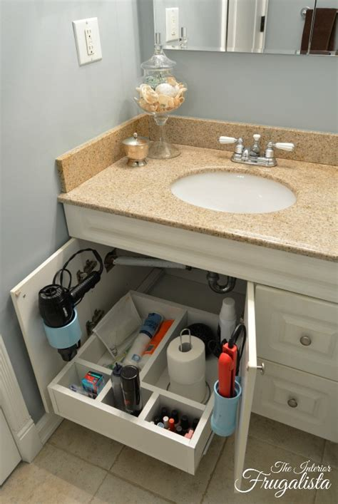 Diy Sliding Shelves Bathroom Vanity