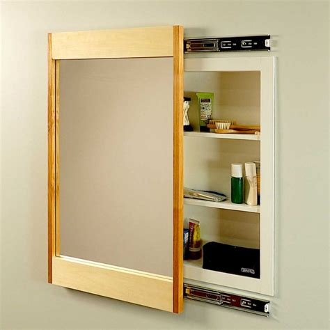 Diy Sliding Storage Mirror