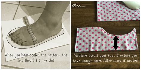 Diy Slipper Sewing Pattern