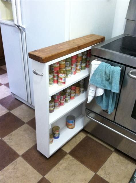 Diy Small Cabinet Between Stove And Fridge