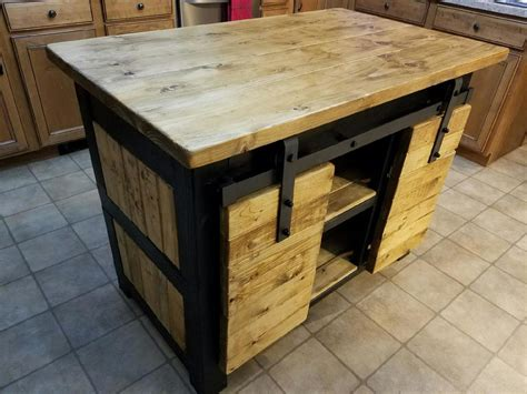 Diy Small Kitchen Island With Barn Doors