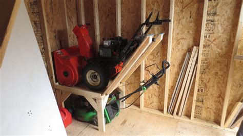 Diy Snow Blower Storage Shed