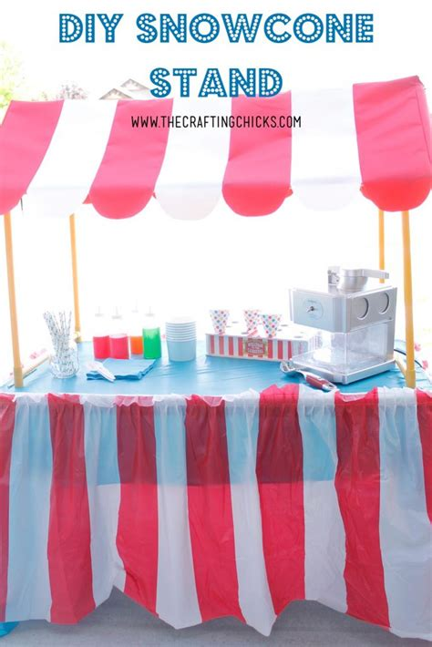 Diy Snow Cone Stand Ideas