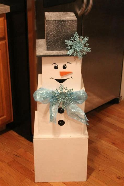 Diy Snowman Made Out Of Boxes