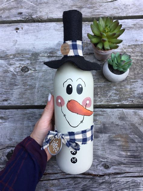 Diy Snowman Wine Bottles