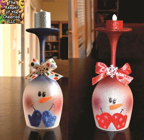 Diy Snowman Wine Glass Candle Holder