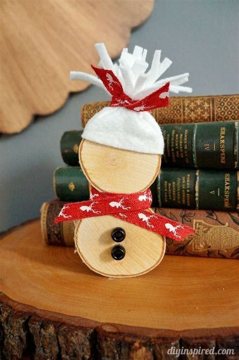 Diy Snowman Wood Slices For Crafts