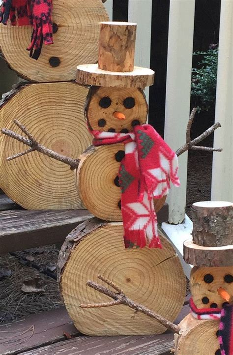 Diy Snowman Wood Slices Walmart