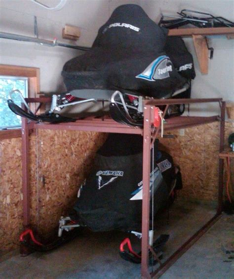 Diy Snowmobile Storage Lift