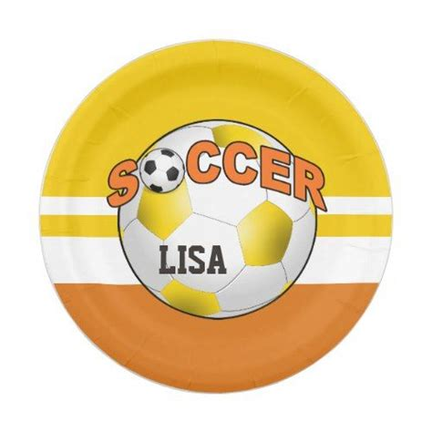 Diy Soccer Ball On Plates