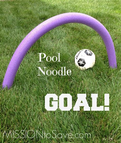 Diy Soccer Goal Game With Noodles