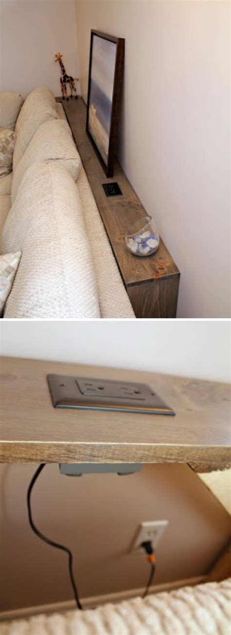 Diy Sofa Table With Outlets