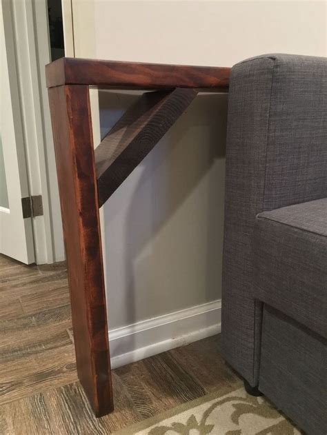 Diy Sofa Table With Shelves
