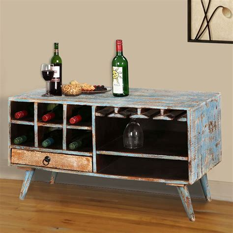 Diy Sofa Table With Wine Storage