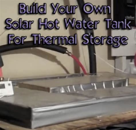 Diy Solar Hot Water Storage
