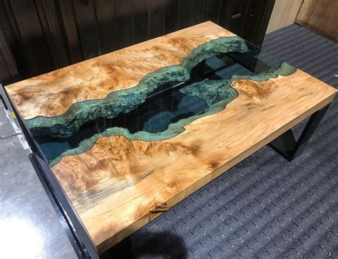 Diy Solid Wood Table With Resin