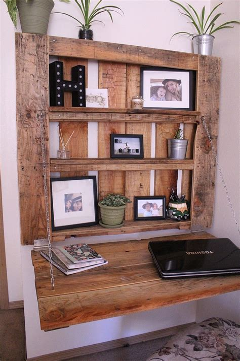 Diy Space Saving Desk With Built In