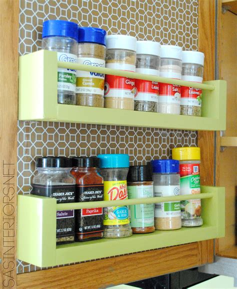 Diy Spice Rack In Cabinet