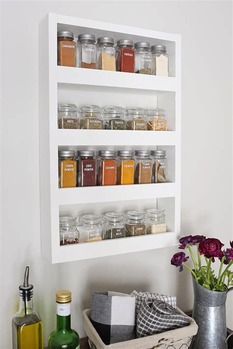 Diy Spice Rack Solutions Wall